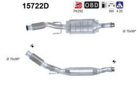 AS 15722D - Catalizador/DPF CITROEN XANTIA 2.0TD HDI