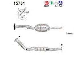 AS 15731 - Catalizador/DPF CITROEN XANTIA 2.0 HDI