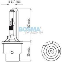 Bosma 505126 - Lámpara tipo D4S P32D-5 - 42V 35W 4300K