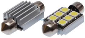 Bosma 93533796 - Pack lámparas tipo plafon 39 mm 12V 4XSMD 5050 LED SV8