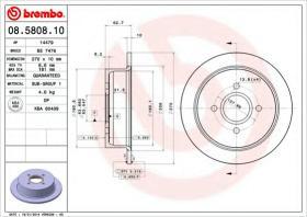 Brembo 08580810 - DISCOS P/TURISMO