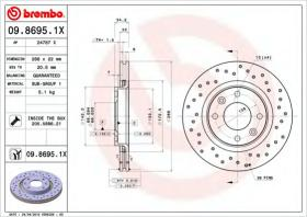 Brembo 0986951X - DISCOS P/TURISMO