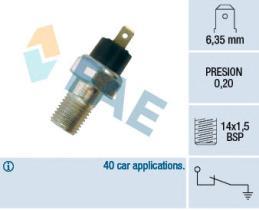 FAE 12020 - Interruptor de control de la presión de aceite