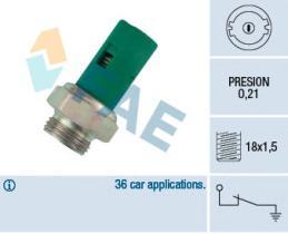 FAE 12490 - Interruptor de control de la presión de aceite