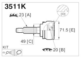 GLO 3511K - Junta homocinetica