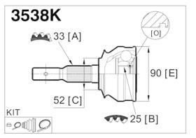 GLO 3538K - Junta homocinetica