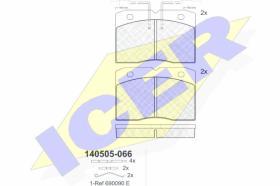 Icer 140505066 - Juego de pastillas de freno