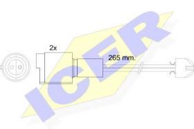 Icer 610089EC - Avisador de freno
