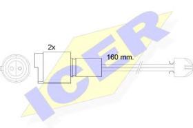 Icer 610090EC - Avisador de freno