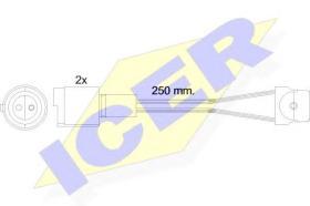 Icer 610091EC - Avisador de freno