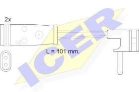 Icer 610332EC - Avisador de freno