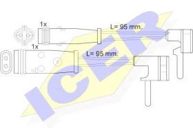 Icer 610333EC - Avisador de freno