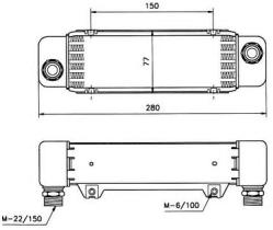 NRF 31008 - ENFRIADOR AUDI 100 82-