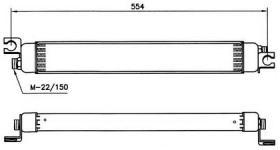 NRF 31010 - ENFRIADOR AUDI 80 QUATTRO 93-