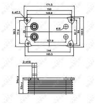 NRF 31071 - ENFRIADOR FORD FIESTA 1 . 6 TI-VCT 10