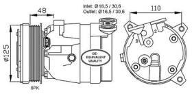 NRF 32022 - COMPRESOR OPEL