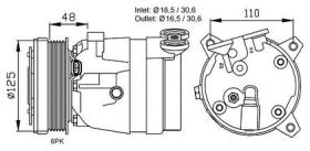 NRF 32022G - COMPRESOR OPEL VAUXHALL ASTRA 91-