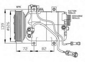 NRF 32027G - COMPRESOR AUDI 100 90-