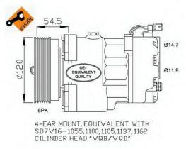 NRF 32033 - COMPR . A6(4CYL)ADR