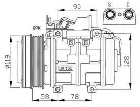 NRF 32039G - COMPRESOR VOLVO S40 95-