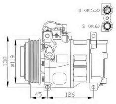NRF 32042G - COMPRESOR CITROEN BERLINGO 96-