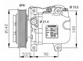 NRF 32044G - COMPRESOR MERCEDES C180 (W202) 93-
