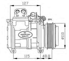 NRF 32048 - NISSAN-DAIHATSU PRIMERA 2 . 0 TD (P11