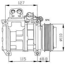 NRF 32048G - COMPRESOR BMW 320I 90-