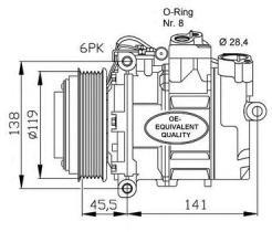 NRF 32053 - AUDI -SEAT-SKODA-VW A4 (6CYL) / A4