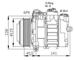 NRF 32053G - COMPRESOR MERCEDES C180 (W202) 93-