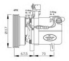 NRF 32055 - COMPRESOR MERCEDES C180 (W202) 93-