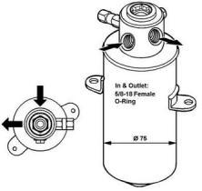 NRF 33033 - FILTRO DESHIDRATADOR VOLKSWAGEN TRA