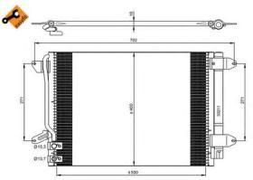NRF 350028 - CONDENSADOR HYUNDAI H1 H100 H300 07