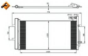 NRF 350029 - CONDENSADOR VW BEETLE/JETTA 10-