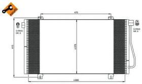 NRF 350030 - CONDENSADOR AUDI Q3 11-