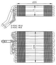 NRF 36025 - EVAPORADOR SEAT TOLEDO 91-
