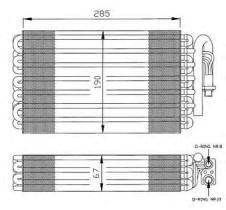 NRF 36026 - EVAPORADOR SEAT CORDOBA 93-