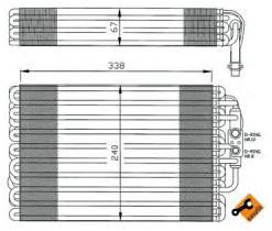 NRF 36034 - EVAPORADOR MERCEDES 280 (W140) 92-