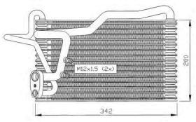 NRF 36036 - EVAPORADOR AUDI 80 86-