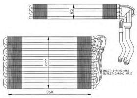 NRF 36060 - EVAPORADOR SAAB 900 93-