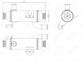 NRF 48008 - ENFRIADOR EGR CITROEN C5 2 . 2D 03/20