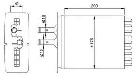 NRF 53205 - CALEFACTOR FIAT PUNTO 93-