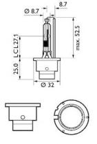 Philips 85126VIC1 - Lámpara philips xénon d2r