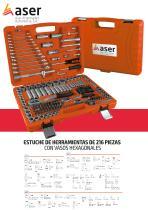 Aser 730 - Estuche herramientas 216 pzas.